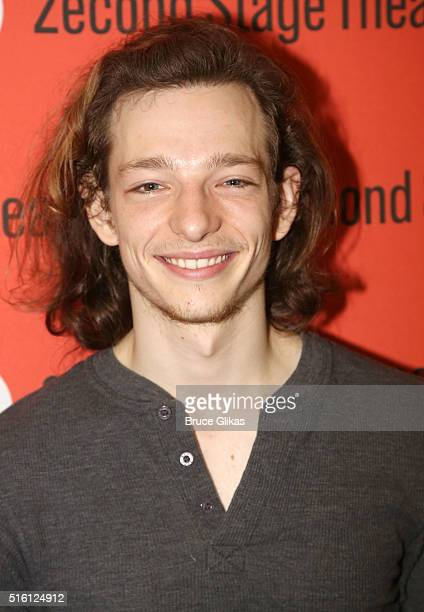 Mike Faist poses during a 'Dear Even Hansen' Media Preview at Second Stage Theatre on March 16 2016 in New York City