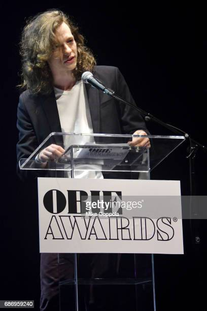 Mike Faist speaks on stage during the 2017 Obie Awards at Webster Hall on May 22 2017 in New York City