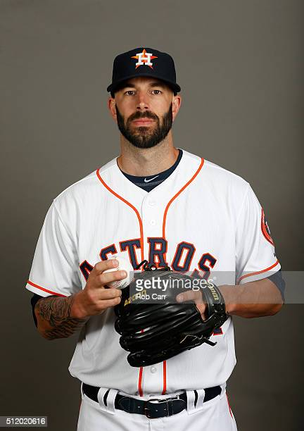 Mike Fiers of the Houston Astros poses on photo day at Osceola County Stadium on February 24 2016 in Kissimmee Florida