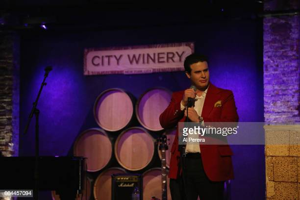 Mike Fine performs at the 17th Annual Downtown Seder at City Winery on April 3 2017 in New York City