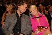 Mike Fisher and Carrie Underwood attend the 2010 CMT Music Awards at the Bridgestone Arena on June 9 2010 in Nashville Tennessee
