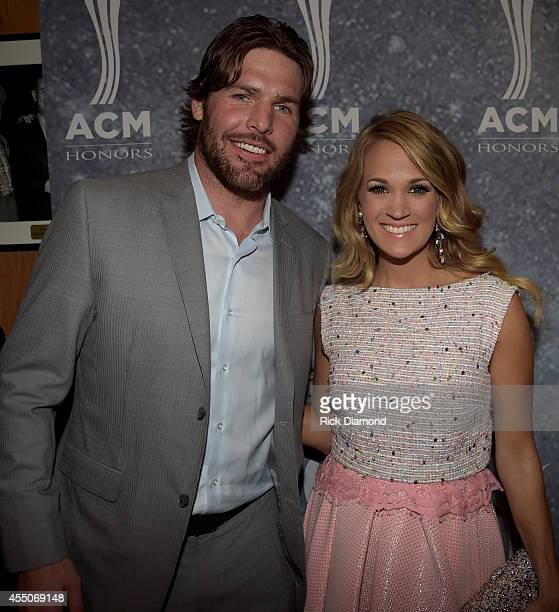 Mike Fisher and Carrie Underwood attend the 8th Annual ACM Honors at Ryman Auditorium on September 9 2014 in Nashville Tennessee