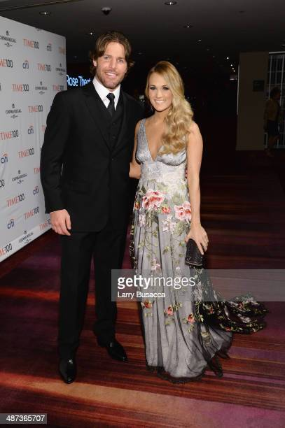 Mike Fisher and Honoree Carrie Underwood attend the TIME 100 Gala TIME's 100 most influential people in the world at Jazz at Lincoln Center on April...