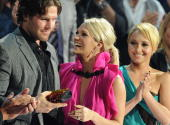 Mike Fisher Carrie Underwood and Hayden Panettiere attend the 2010 CMT Music Awards at the Bridgestone Arena on June 9 2010 in Nashville Tennessee
