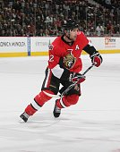Mike Fisher of the Ottawa Senators skates against the New Jersey Devils at Scotiabank Place on November 7 2009 in Ottawa Ontario Canada The Devils...