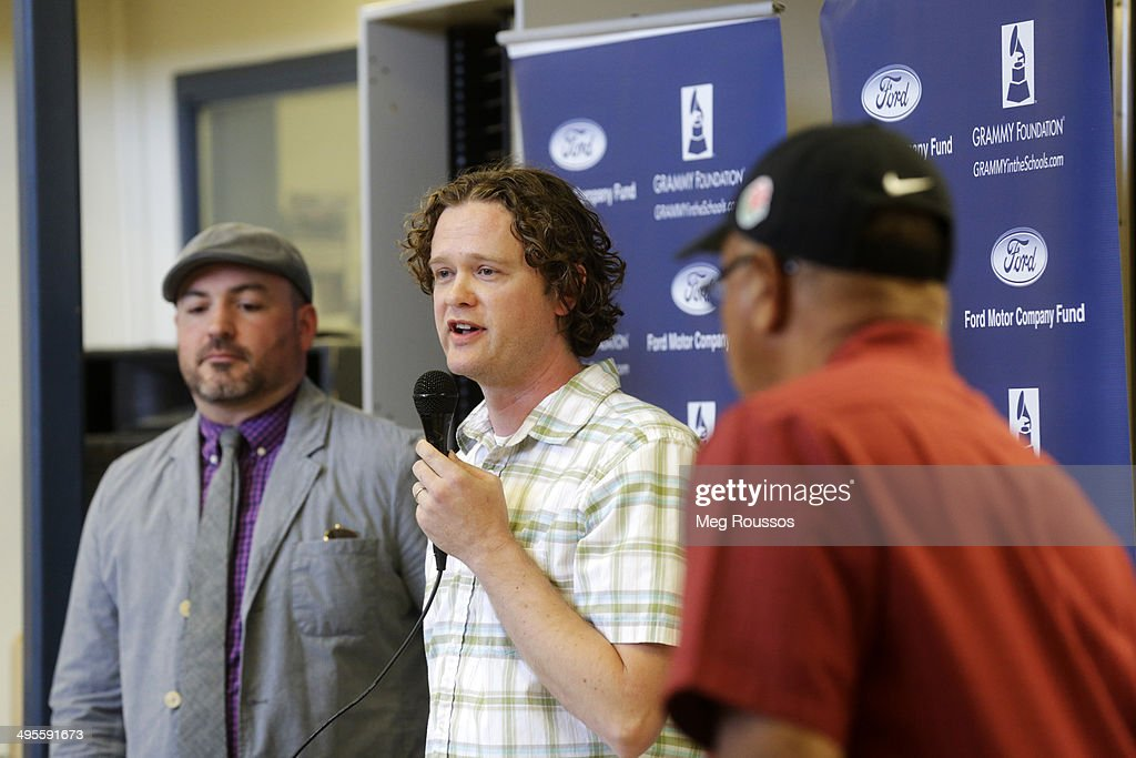 Mike Flanagan Program Director for Bend Radio Group addresses students at the GRAMMY Camp Basic Training at Bend High School June 3 2014 in Bend...