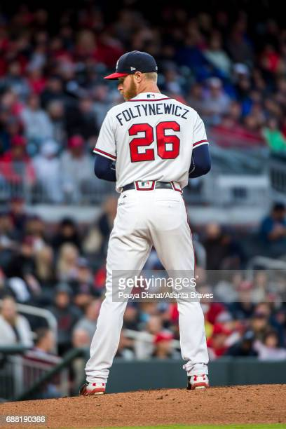 Mike Foltynewicz of the Atlanta Braves pitches against the St Louis Cardinals at SunTrust Park on May 05 2017 in Atlanta Georgia The Cardinals won 100