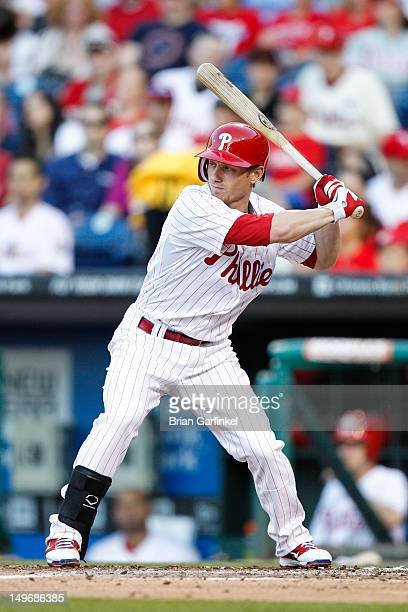 Mike Fontenot of the Philadelphia Phillies bats during the game against the Pittsburgh Pirates at Citizens Bank Park on June 26 2012 in Philadelphia...