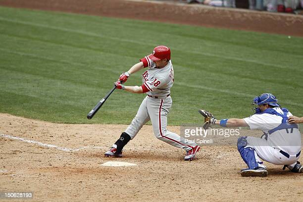 Mike Fontenot of the Philadelphia Phillies during the game against the Los Angeles Dodgers on Wednesday July 18 2012 at Dodger Stadium in Los Angeles...