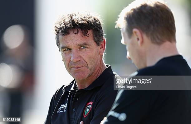 Mike Ford the Toulon assistant coach looks on during the European Rugby Champions Cup match between RC Toulon and Saracens at Stade Felix Mayol on...