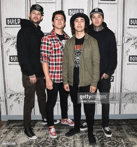Mike Fuentes Jamie Preciado Vic Fuentes and Tony Perry of Pierce the Veil attend the Build Series to discuss the tour 'We Will Detonate' at Build...