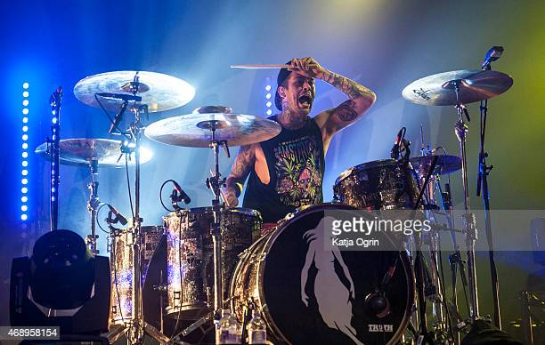 Mike Fuentes of Pierce The Veil performs at O2 Academy Birmingham on April 8 2015 in Birmingham United Kingdom