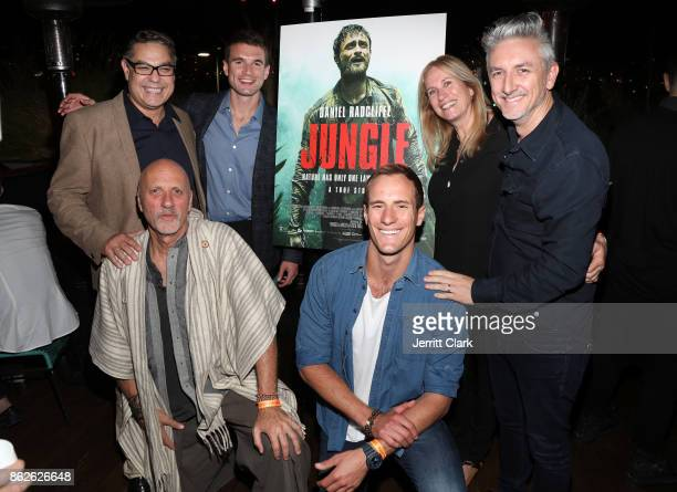 Mike Gabrawy Alex Russell Yossi Ginsberg Dana Lustig Joel Jackson and Greg McLean attend a Screening Of 'Jungle' at EP LP on October 17 2017 in West...