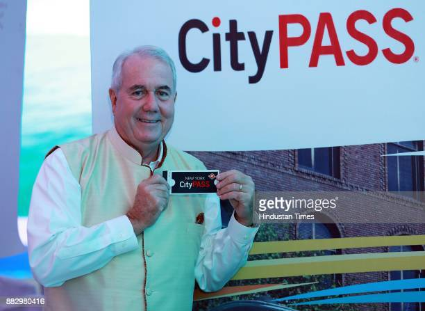 Mike Gallagher cofounder of CityPass during CEO mission event organized by Visit California on November 17 2017 in New Delhi India In a bid to...