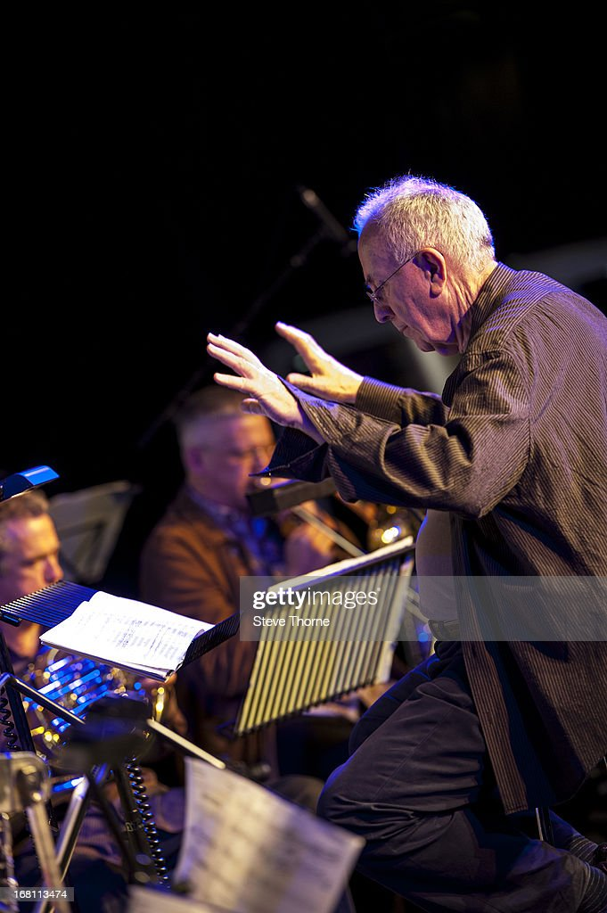 Mike Gibbs performs with his ensemble on stage on Day 5 of Cheltenham Jazz Festival on May 5, 2013 in Cheltenham, England.