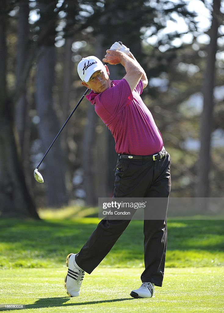 Mike Goodes hits from the 15th tee during the second round of the Charles Schwab Cup Championship at TPC Harding Park on November 1, 2013 in San Francisco, California.