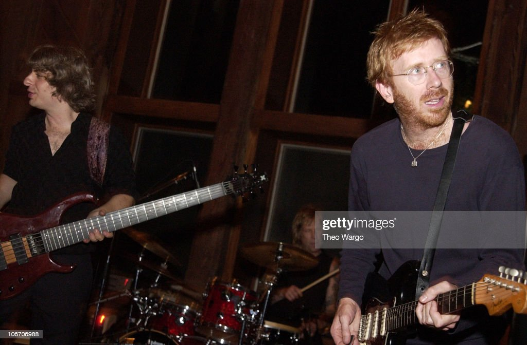 Mike Gordon and Trey Anastasio of Phish during Woodstock Film Festival and Allaire Studios Present 'Rising Low' Directed by Mike Gordon of Phish at Allaire Studios in Woodstock, New York, United States.