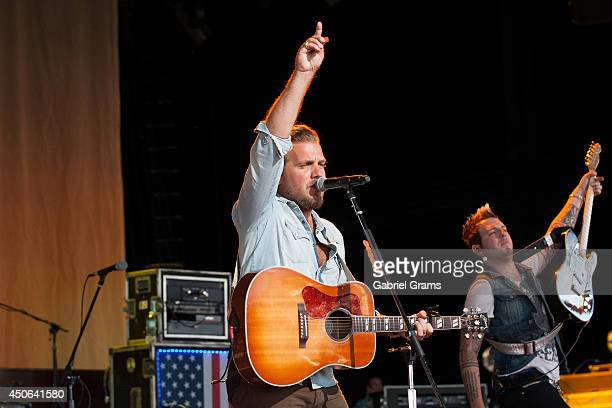 Mike Gossin and Tom Gossin of Gloriana perform in concert at Tinley Park on June 14 2014 in Chicago Illinois