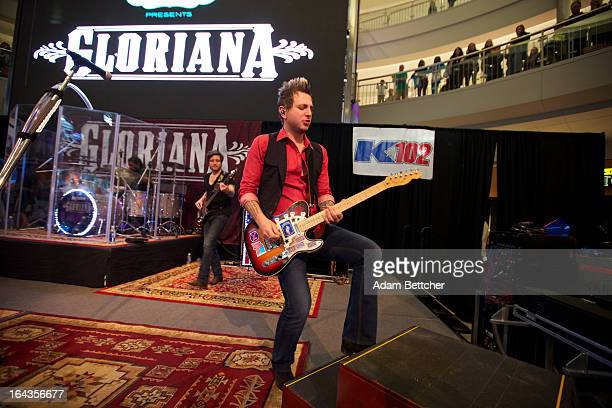 Mike Gossin of country crossover band Gloriana performs at the Mall of America on March 22 2013 in Bloomington Minnesota