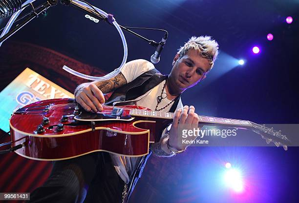 Mike Gossin of Gloriana performs at the Nassau Veterans Memorial Coliseum on May 14 2010 in Uniondale New York