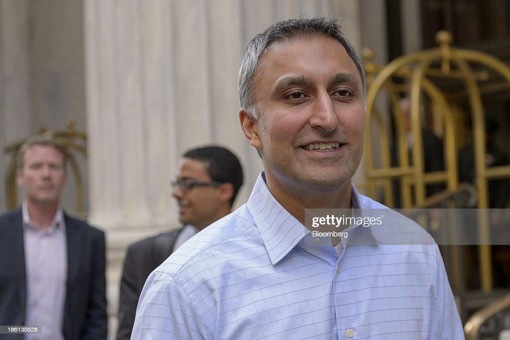 Mike Gupta, chief financial officer of Twitter Inc., departs the Ritz-Carlton Hotel in Philadelphia, Pennsylvania, U.S., on Monday, Oct. 28, 2013. The San Francisco-based company is seeking a valuation of 9.5 times 2014 sales in its IPO next month, according to data released in a filing with the Securities and Exchange Commission and analyst projections compiled by Bloomberg. Photographer: Jim Graham/Bloomberg via Getty Images