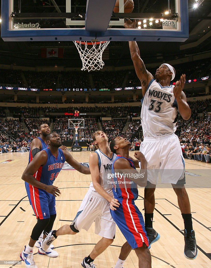 Mike Harris #33 of the Minnesota Timberwolves goes to the basket during the game between the Minnesota Timberwolves and the Detroit Pistons during the NBA preseason as part of NBA Canada Series 2012 on October 24, 2012 at the MTS Centre in Winnipeg, Manitoba, Canada.