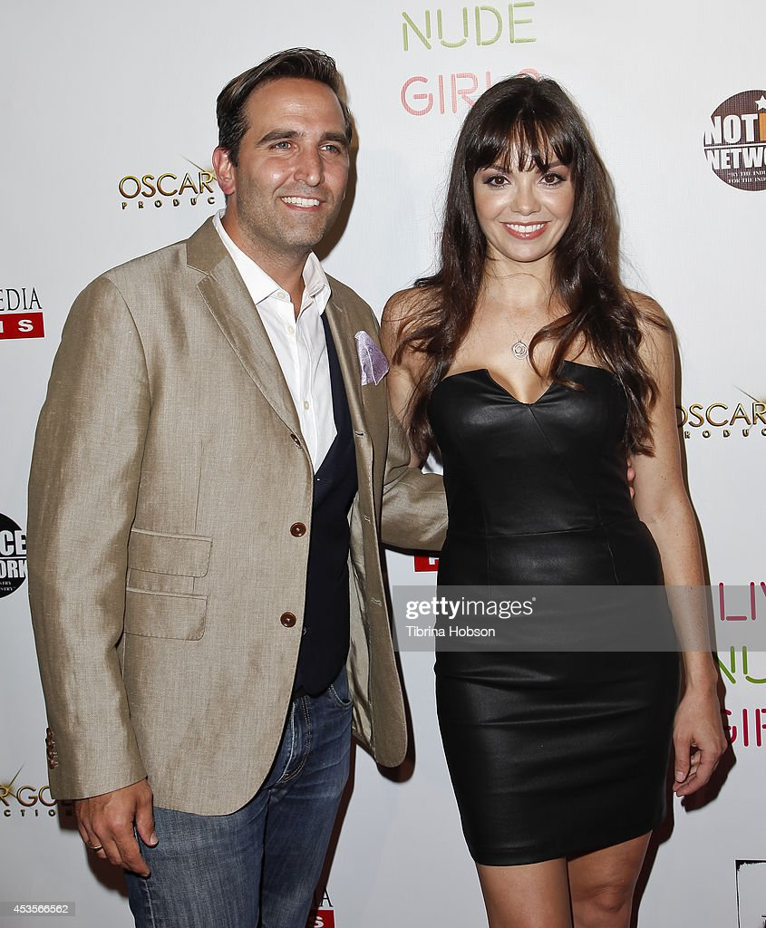 Mike Hatton and Annemarie Pazmino attend the 'Live Nude Girls' premiere at Avalon on August 12, 2014 in Hollywood, California.