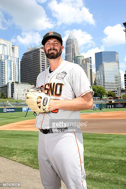 Mike Hauschild is photographed during the TripleA All Star Workout Day prior to the Sonic Automotive TripleA Baseball All Star Game at BBT Ballpark...