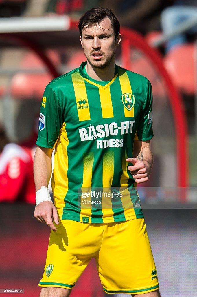 Mike Havenaar of ADO Den Haag during the Dutch Eredivisie match between FC Utrecht and ADO Den Haag at the Galgenwaard stadium on march 13 2016 in...