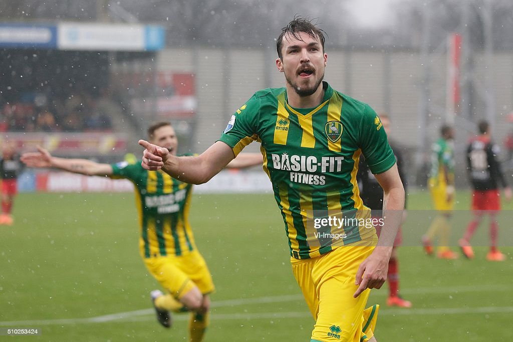 Mike Havenaar of ADO Den Haag during the Dutch Eredivisie match between Excelsior Rotterdam and ADO Den Haag at Woudenstein stadium on February 14...