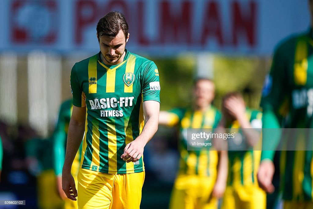 Mike Havenaar of ADO Den Haag during the Dutch Eredivisie match between Heracles Almelo and ADO Den Haag at Polman stadium on May 01 2016 in Almelo...
