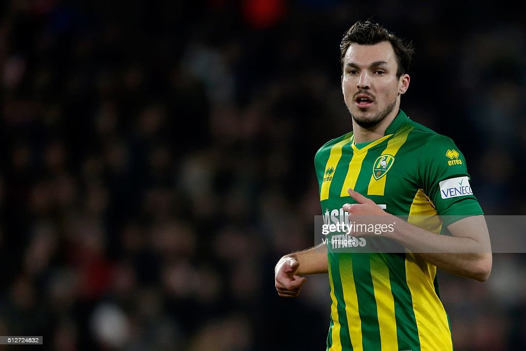 Mike Havenaar of ADO Den Haag during the Dutch Eredivisie match between PSV Eindhoven and ADO Den Haag at the Phillips stadium on February 27 2016 in...