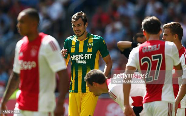 Mike Havenaar of ADO Den Haag looks on during the Dutch Eredivisie match between Ajax Amsterdam and ADO Den Hagg on August 30 2015 in Amsterdam...