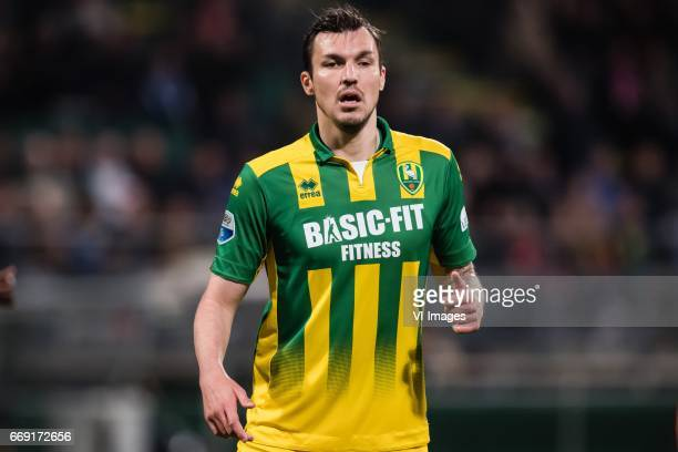 Mike Havenaar of ADO Den Haagduring the Dutch Eredivisie match between ADO Den Haag and PSV Eindhoven at Kyocera stadium on April 15 2017 in The...