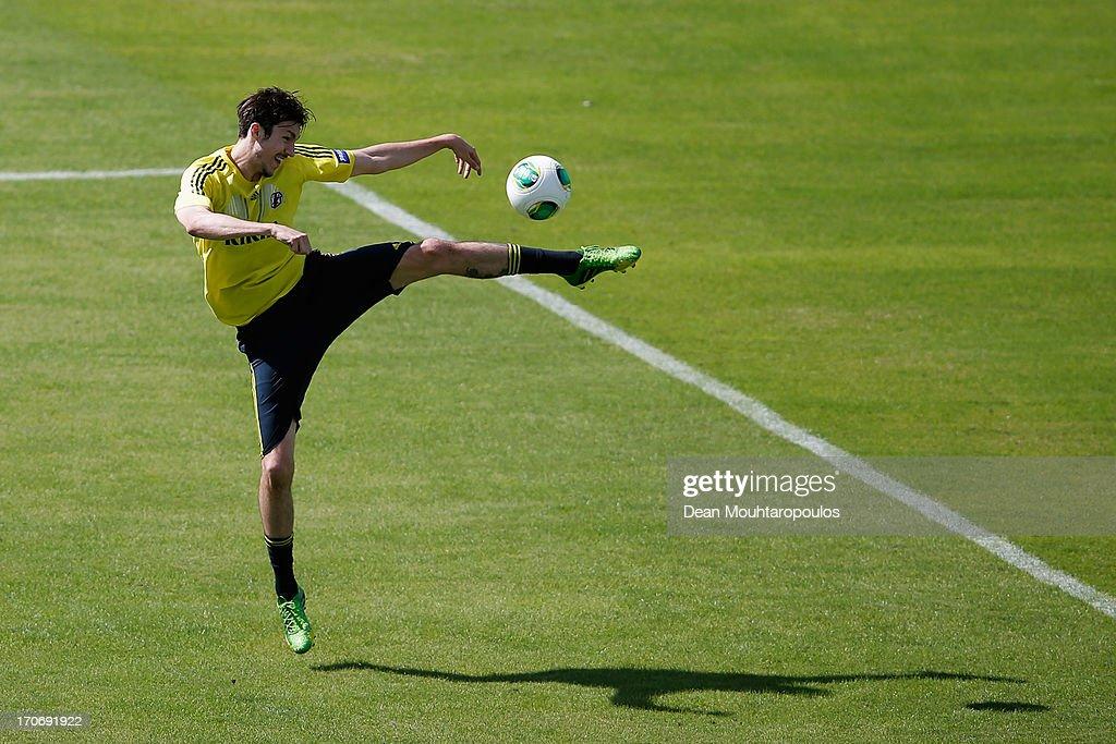 Mike Havenaar of Japan in action during the Japan Training Session at Walmir Campelo Bezerra Stadium on June 16 2013 in Brasilia Brazil