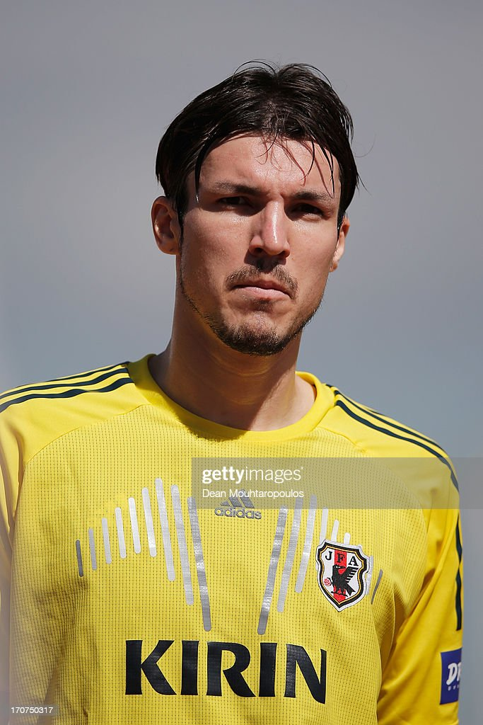 Mike Havenaar of Japan looks on after the Japan Training Session at the Confderations Cup 2013 at Centro de Capacitacao Fisica dos Bombeiros or...