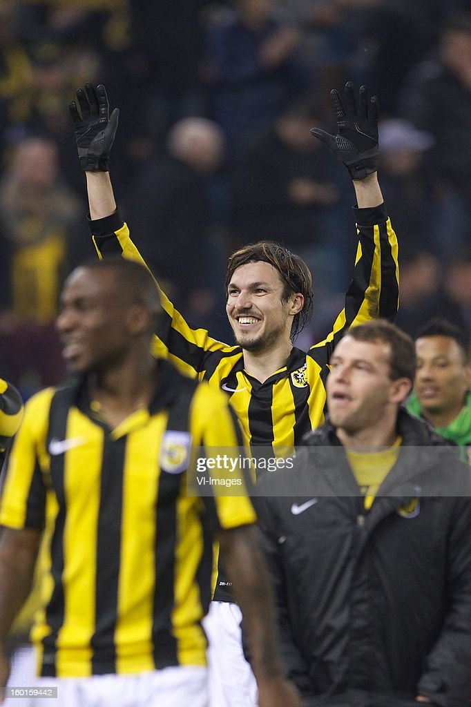 Mike Havenaar of Vitesse during the Dutch Eredivise match between Vitesse Arnhem and Ajax Amsterdam at the Gelredome on January 27, 2013 in Arnhem, The Netherlands.