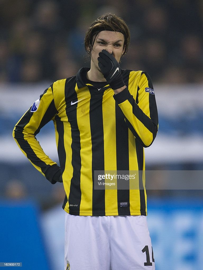 Mike Havenaar of Vitesse during the Dutch Eredivisie match between Vitesse Arnhem and FC Utrecht at the Gelredome on march 01, 2013 in Arnhem, The Netherlands