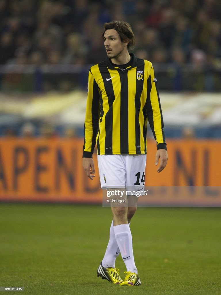 Mike Havenaar of Vitesse during the Dutch Eredivisie match between Vitesse Arnhem and PEC Zwolle at the Gelredome on march 31, 2013 in Arnhem, The Netherlands