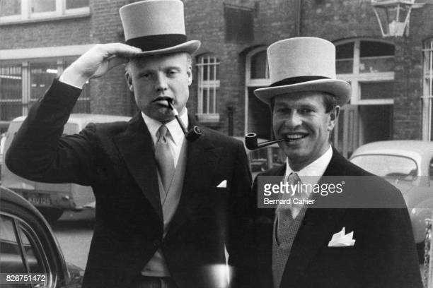 Mike Hawthorn Peter Collins Grand Prix of Great Britain Aintree 20 July 1957 Mike Hawthorn and Peter Collins mates