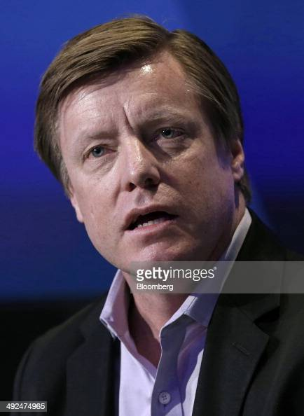 Mike Herring chief financial officer of Pandora Media Inc speaks at the Bloomberg CFO Conference in New York US on Tuesday May 20 2014 Pandora Media...