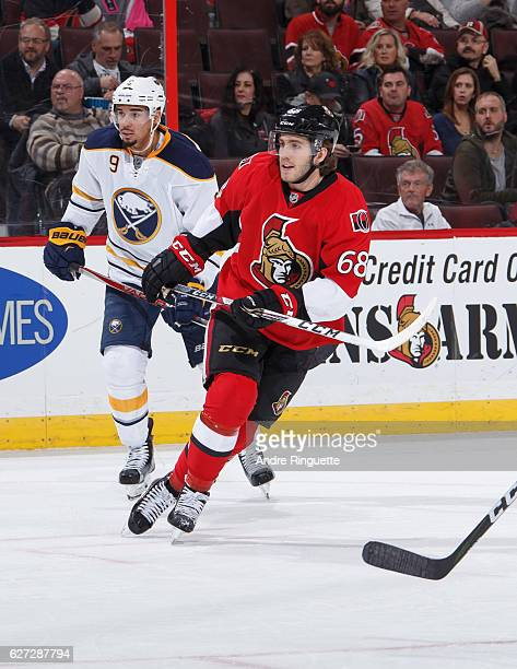 Mike Hoffman of the Ottawa Senators skates against the Buffalo Sabres at Canadian Tire Centre on November 29 2016 in Ottawa Ontario Canada