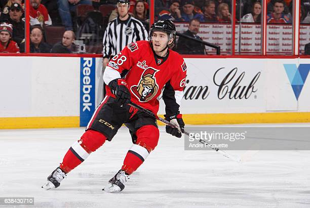 Mike Hoffman of the Ottawa Senators skates against the Edmonton Oilers at Canadian Tire Centre on January 8 2017 in Ottawa Ontario Canada