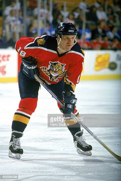 Mike Hough of the Florida Panthers skates in position during a game against the Buffalo Sabres in Buffalo New York on January1994