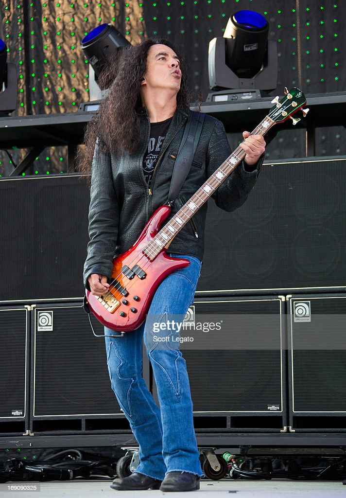 Mike Inez of Alice in Chains performs during 2013 Rock On The Range at Columbus Crew Stadium on May 19, 2013 in Columbus, Ohio.