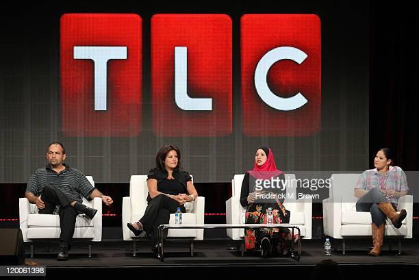 Mike Jaafar Angela Jaafar sisters Suehaila Amen and Shadia AmenMcDermott speak during the 'AllAmerican Muslim' panel during the TLC Discovery...