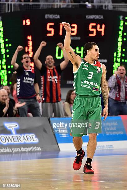 Mike James #3 of Laboral Kutxa Vitoria Gasteiz in action during the 20152016 Turkish Airlines Euroleague Basketball Top 16 Round 13 game between...