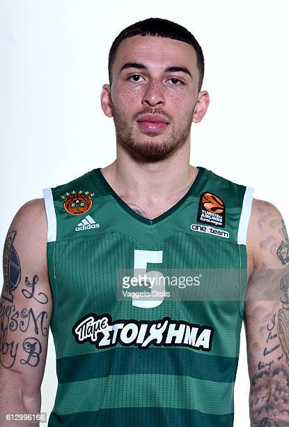 Mike James #5 of Panathinaikos Superfoods Athens poses during the 2016/2017 Turkish Airlines EuroLeague Media Day at Olimpic Sports Center Athens on...