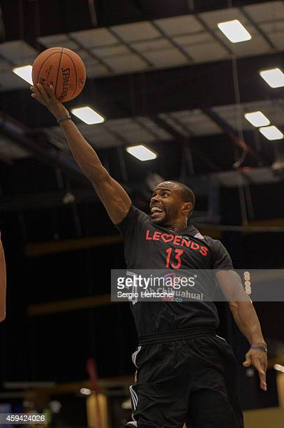 Mike James of the Texas Legends in action against the Santa Cruz Warriors on November 21 2014 at Dr Pepper Arena in Frisco Texas NOTE TO USER User...