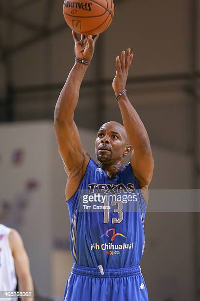 Mike James of the Texas Legends shoots a shot against the Santa Cruz Warriors during an NBA DLeague game on March 4 2015 at Kaiser Permanente Arena...